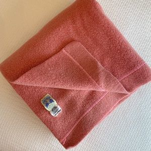 Vintage coral pink wool blanket